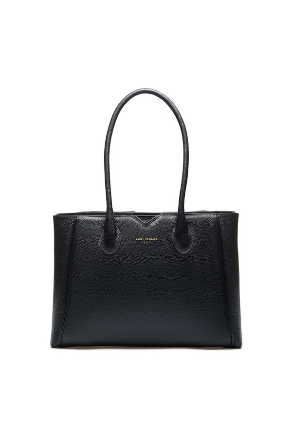 Isabel Bernard Honoré Cloe svart läderhandväska i kalvläder
