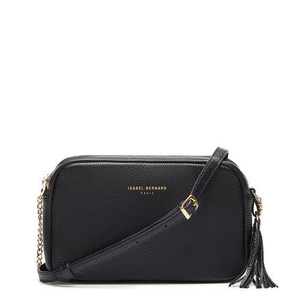 Isabel Bernard Honoré Lucie black calfskin leather crossbody bag