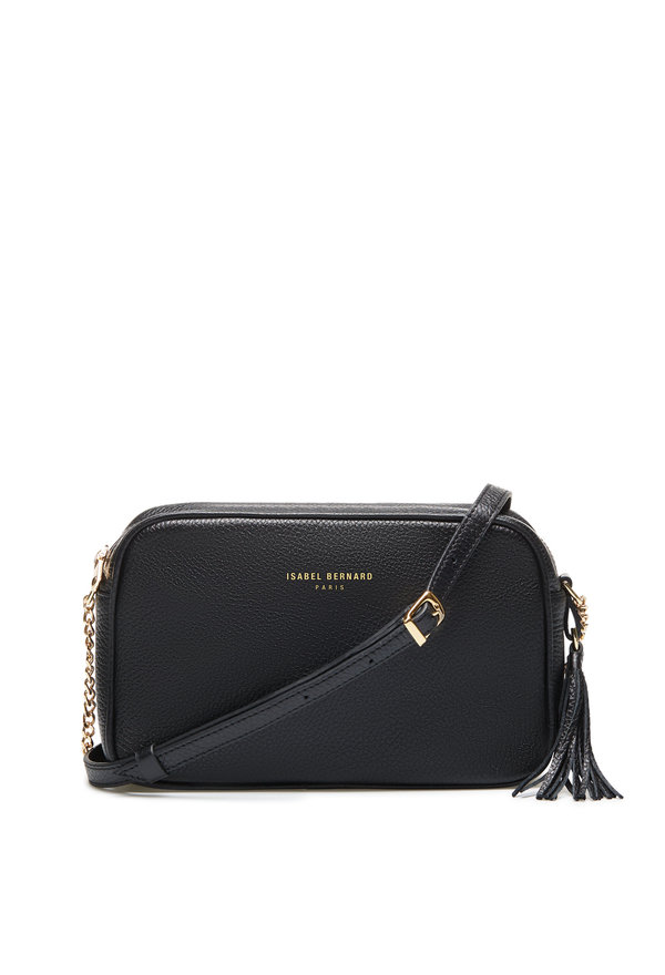 Isabel Bernard Honoré Lucie black calfskin leather crossbody bag