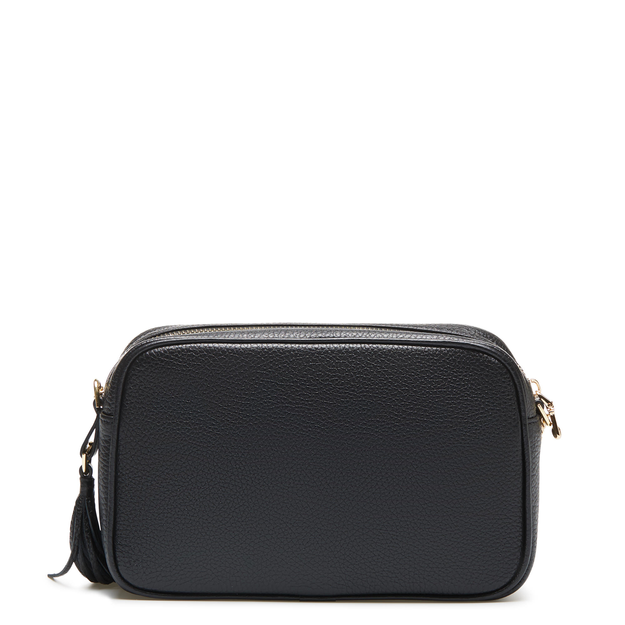 Isabel Bernard Honoré Lucie sort læder crossbody taske lavet af kalveskind