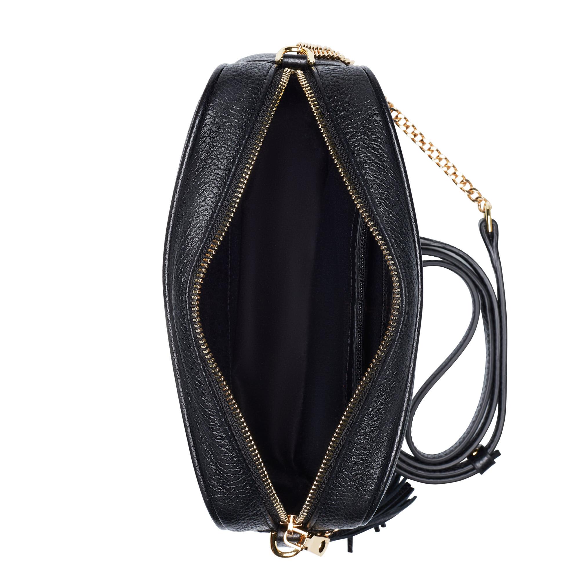 Isabel Bernard Honoré Lucie svart läder crossbody väska i kalvläder