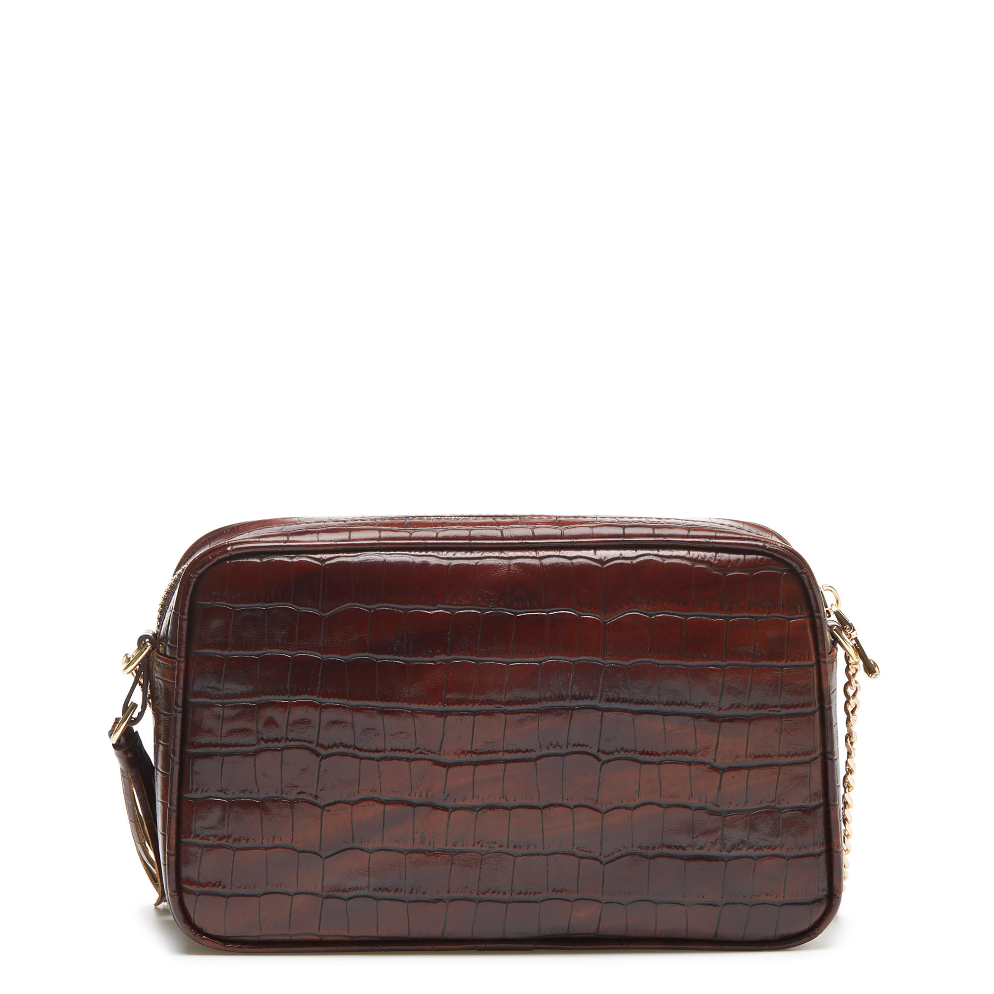 Isabel Bernard Honoré Lucie croco brown calfskin leather crossbody bag