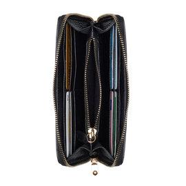 Isabel Bernard Honoré Léa portefeuille zippé en cuir de veau noir