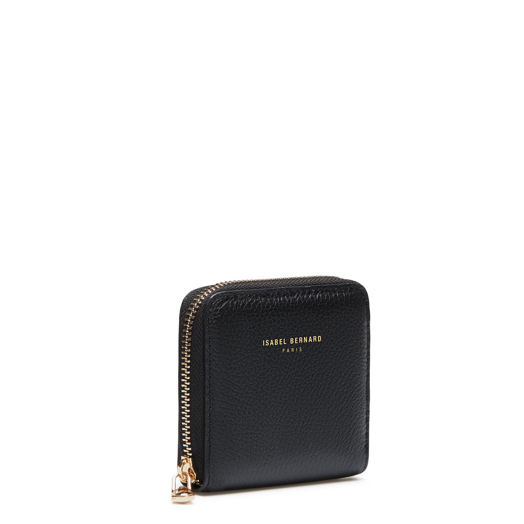 Isabel Bernard Honoré Jules black calfskin leather zipper wallet