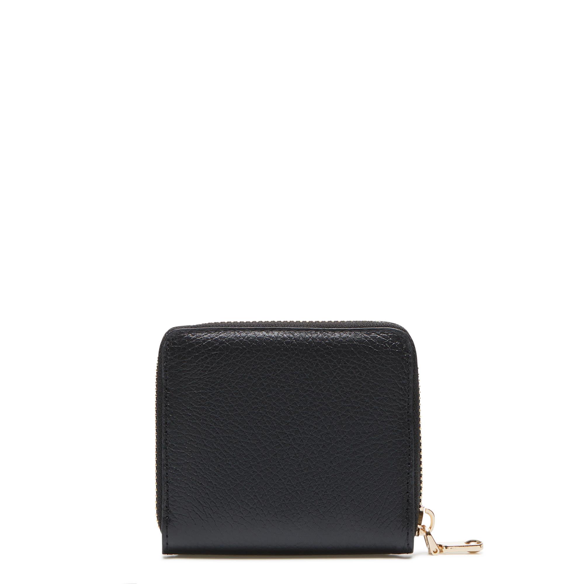 Isabel Bernard Honoré Jules portefeuille zippé en cuir de veau noir