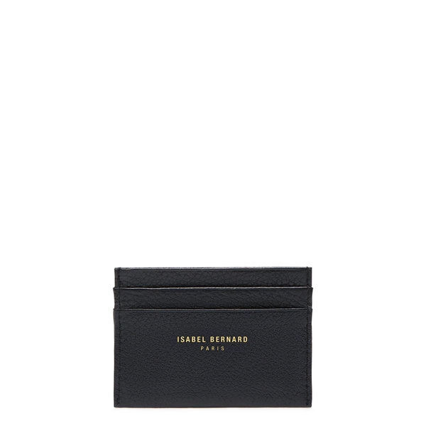 Isabel Bernard Honoré Eve black calfskin leather card holder