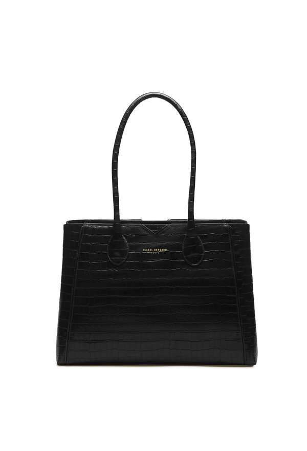 Isabel Bernard Honoré Cloe borsa in pelle di vitello croco nero