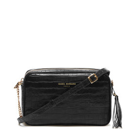 Isabel Bernard Honoré Lucie croco black calfskin leather crossbody bag