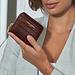 Isabel Bernard Honoré Jules croco brown calfskin leather zipper wallet