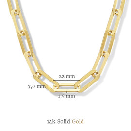 Isabel Bernard Aidee Idalie 14 carat gold necklace