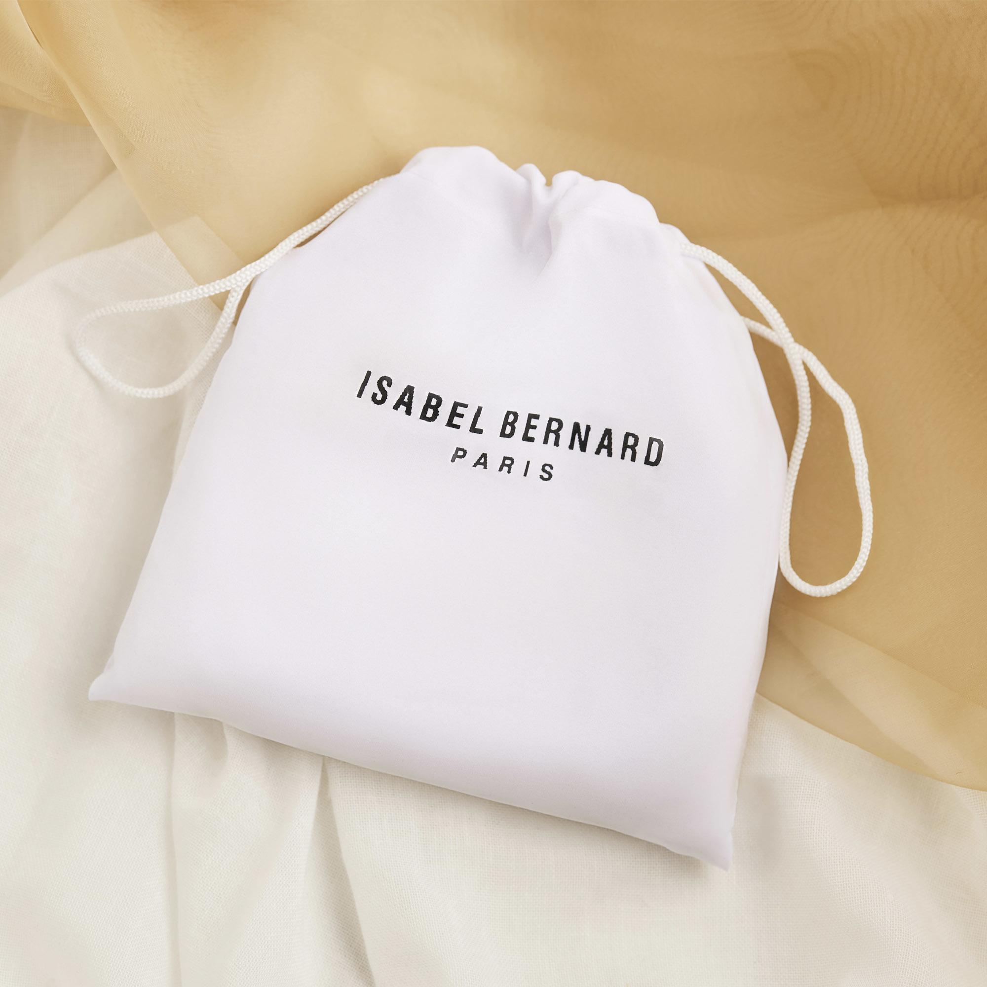 Isabel Bernard Honoré Lucie kroko braune Umhängetasche aus Kalbsleder