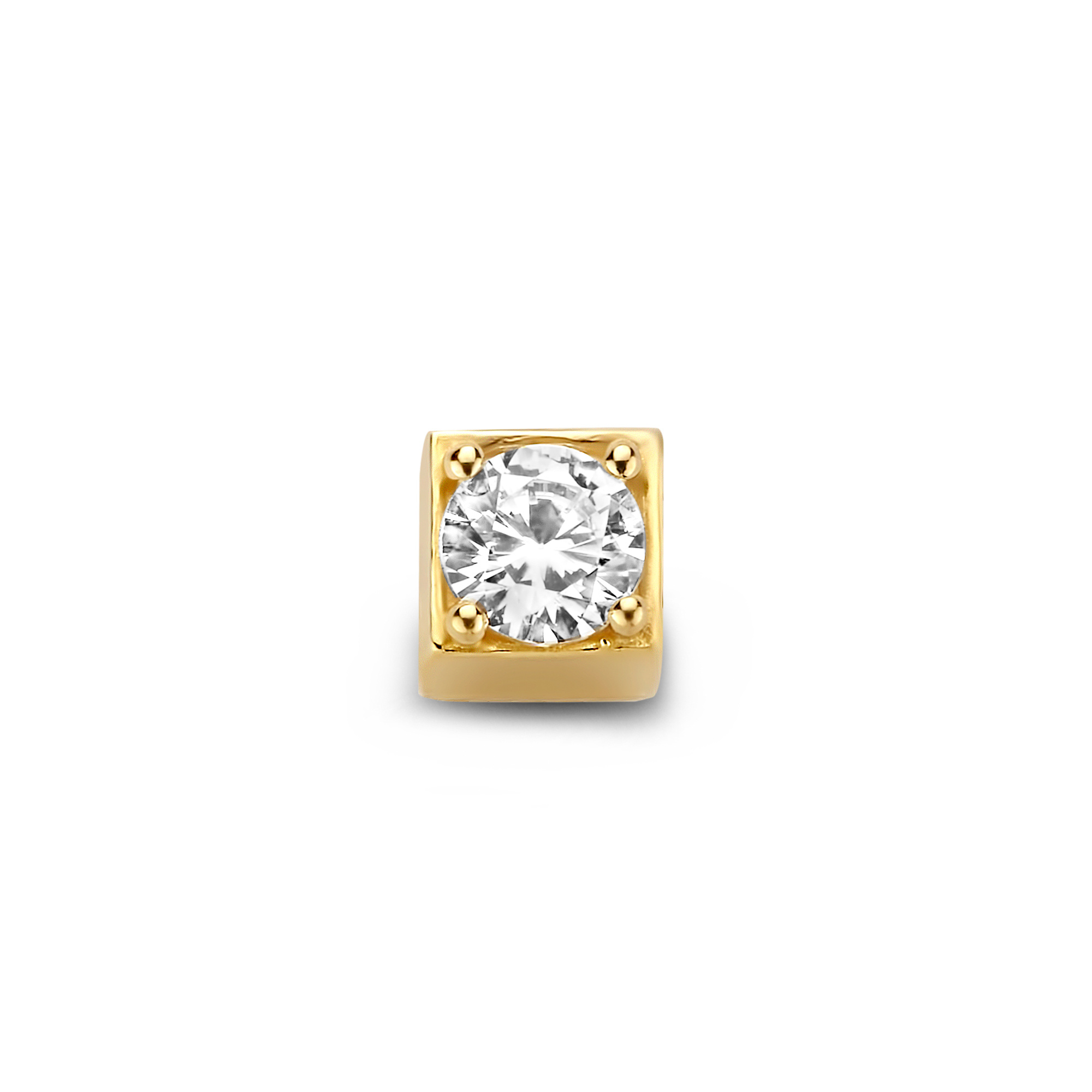 Isabel Bernard Le Carré Felie 585er Goldwürfel Charm mit Zirkonia