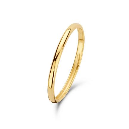 Isabel Bernard Asterope Solid 585er Gold Vorsteckring