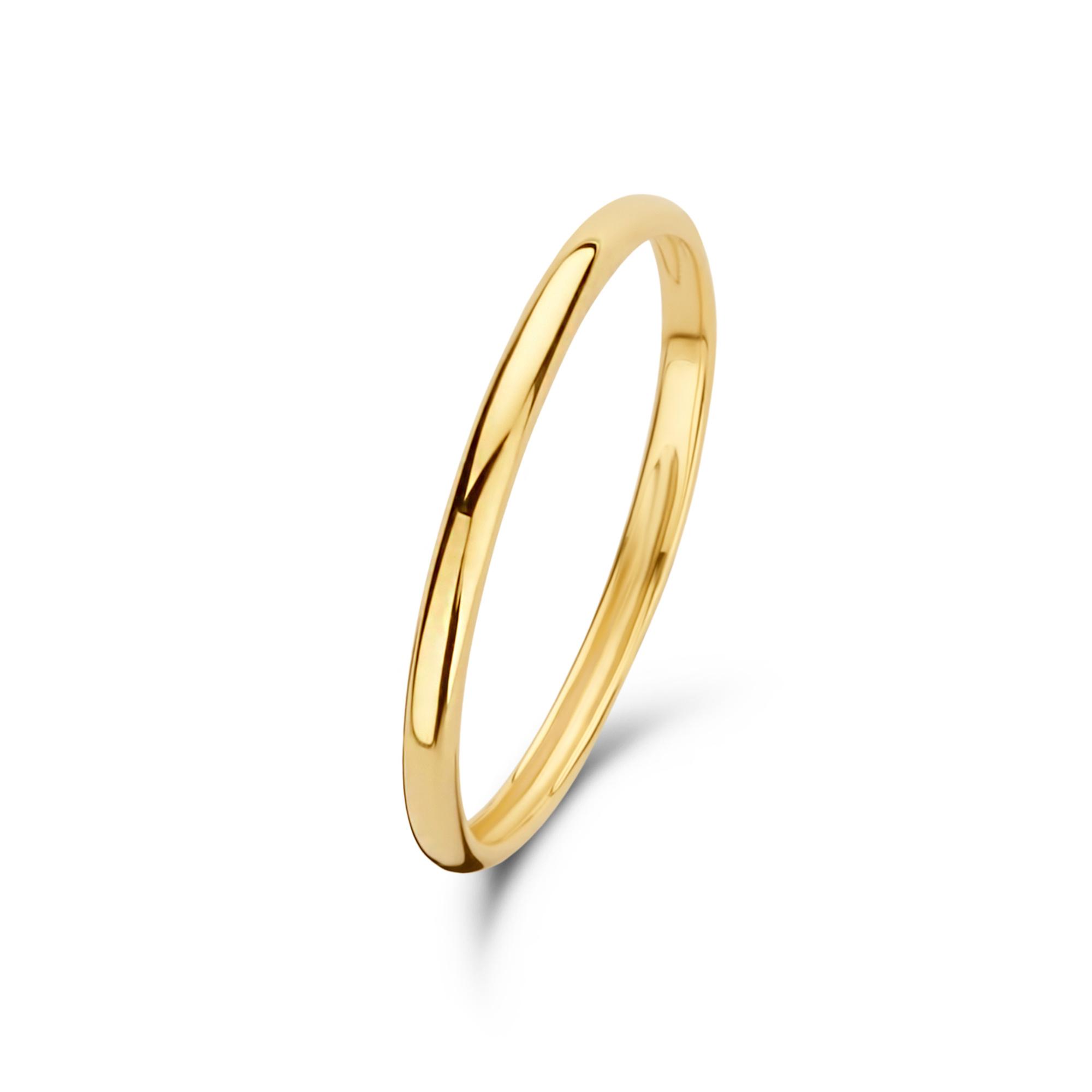 Isabel Bernard Asterope Solid 14 karaat gouden stacking ring