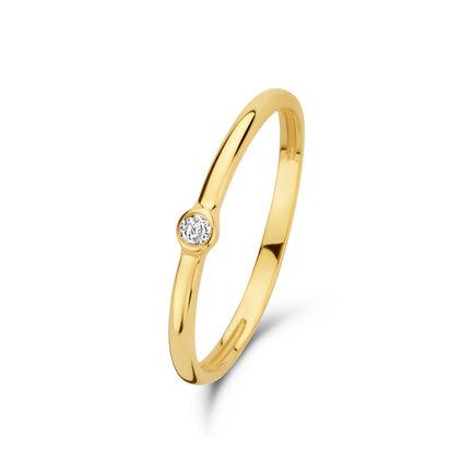 Isabel Bernard Asterope Solitary anelli sovrapponibili in oro 14 carati