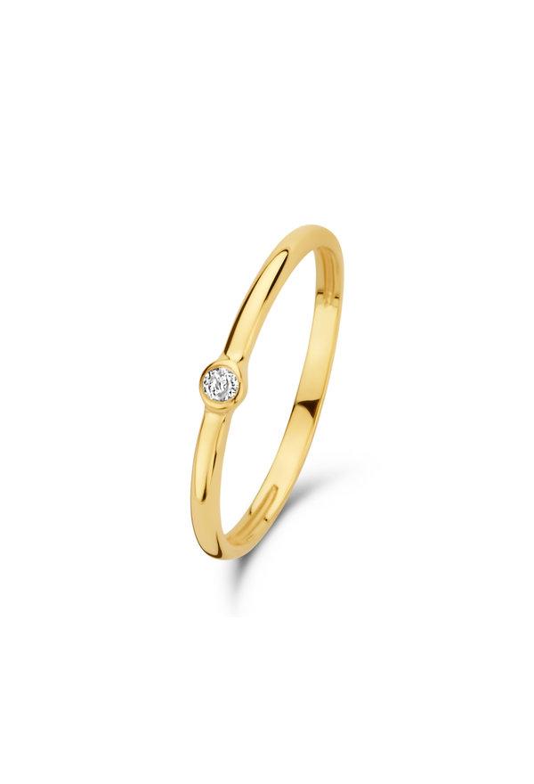 Isabel Bernard Asterope Solitary 14 karaat gouden stacking ring