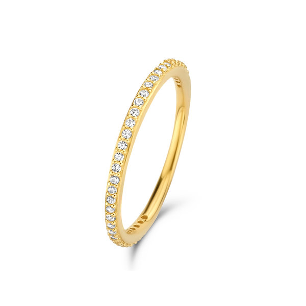 Isabel Bernard Asterope Stones 14 karaat gouden stacking ring