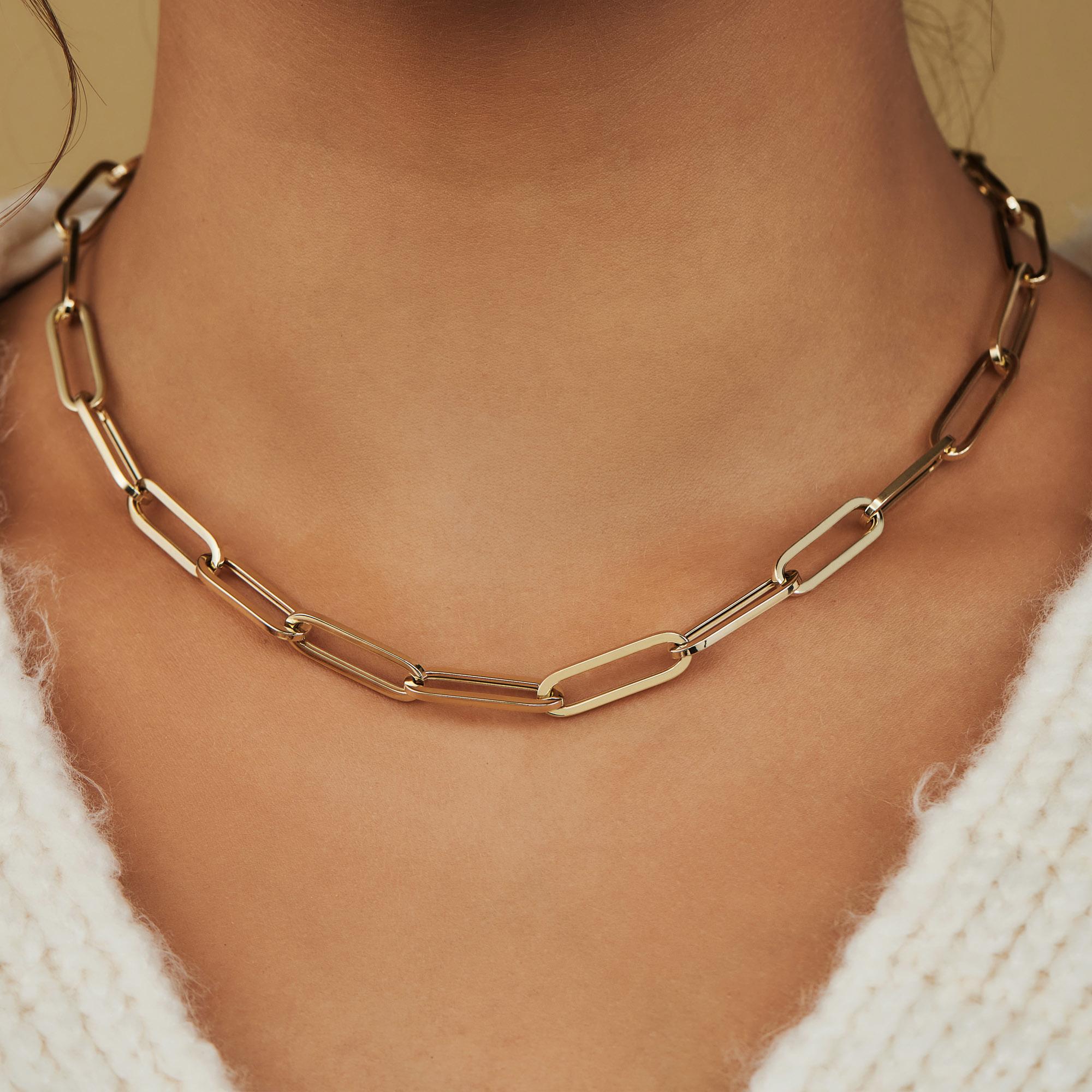 Isabel Bernard Aidee Idalie 14 karat guld link halskæde