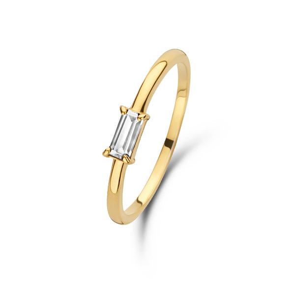 Isabel Bernard Baguette Odie 14 karaat gouden ring