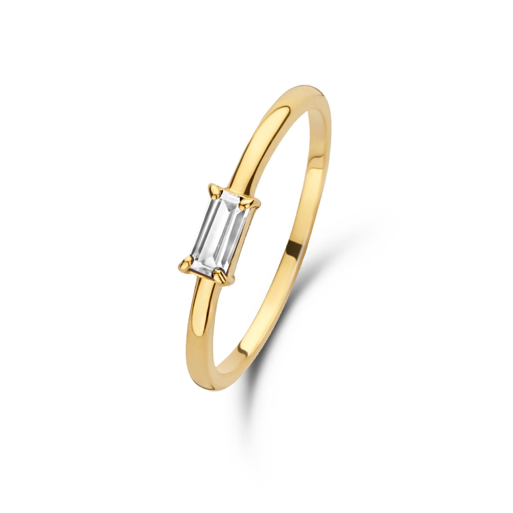 Isabel Bernard Baguette Odie anello in oro 14 carati