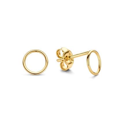 Isabel Bernard Belleville Anna orecchini a bottone in oro 14 carati