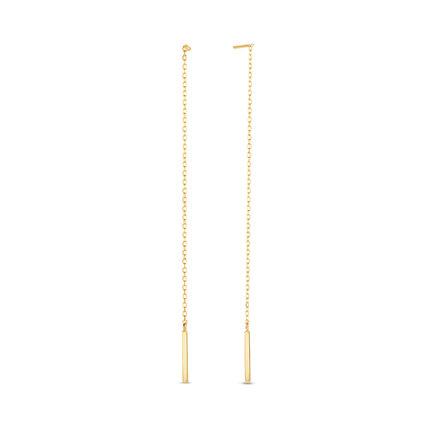 Isabel Bernard Le Marais Maëlys boucles d'oreilles pendantes en or 14 carats