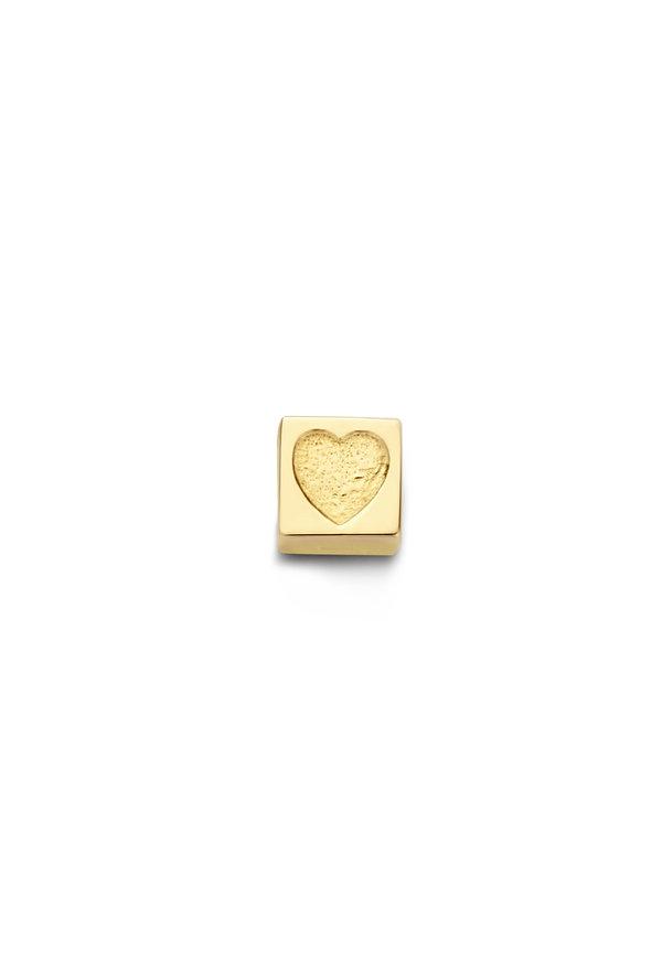 Isabel Bernard Le Carré Felie 14 karat gold cube charm