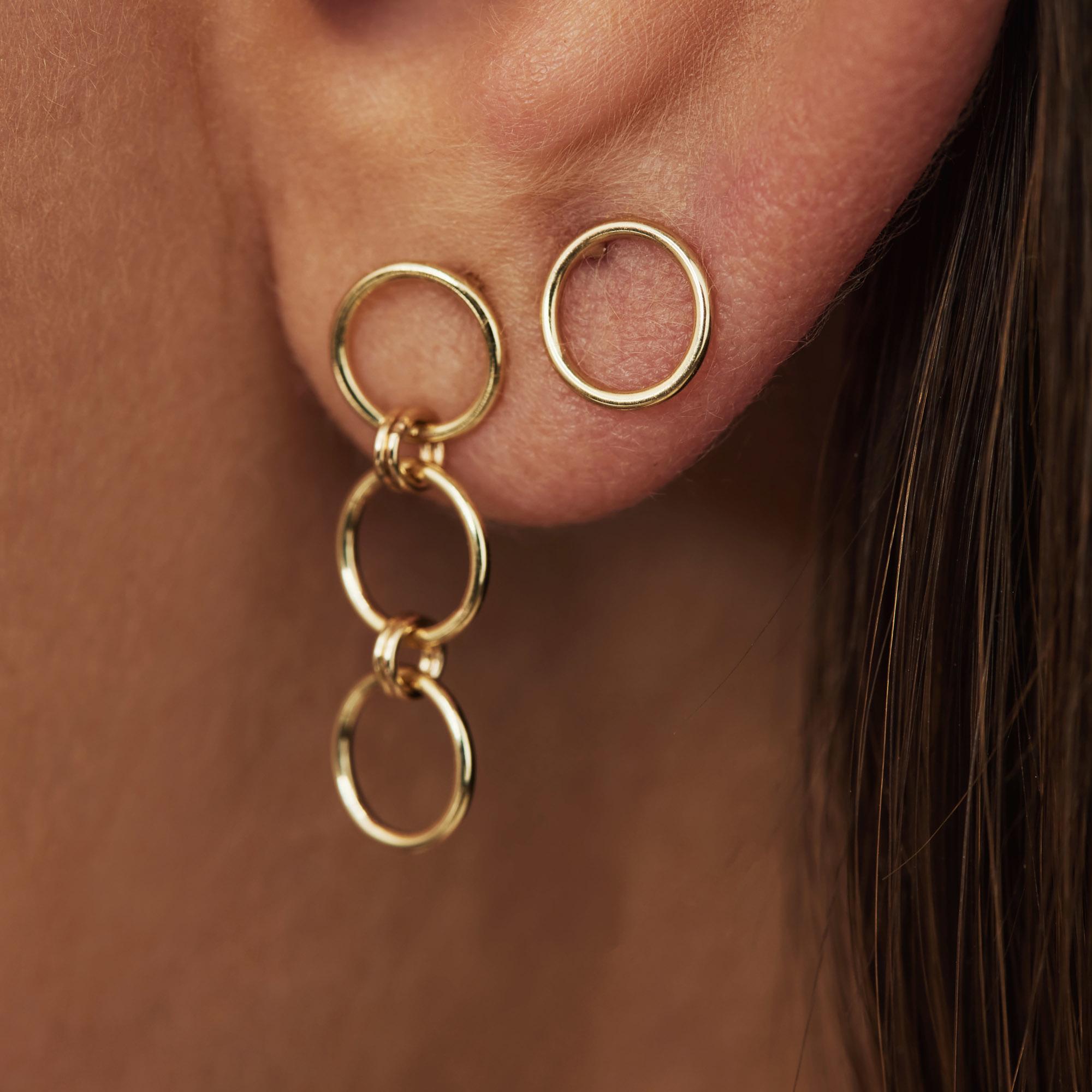 Isabel Bernard Belleville Anna clous d'oreilles en or 14 carats