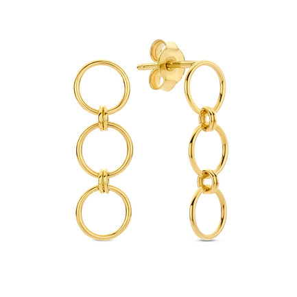 Isabel Bernard Belleville Anna boucles d'oreilles pendantes en or 14 carats