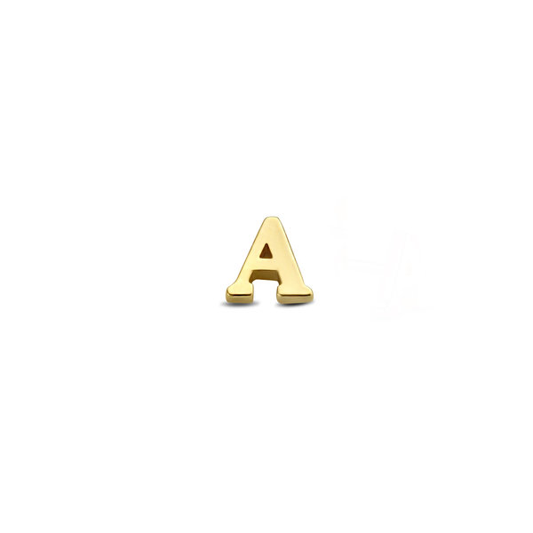 Isabel Bernard Le Marais Guillaine 14 karat gold initial single ear stud