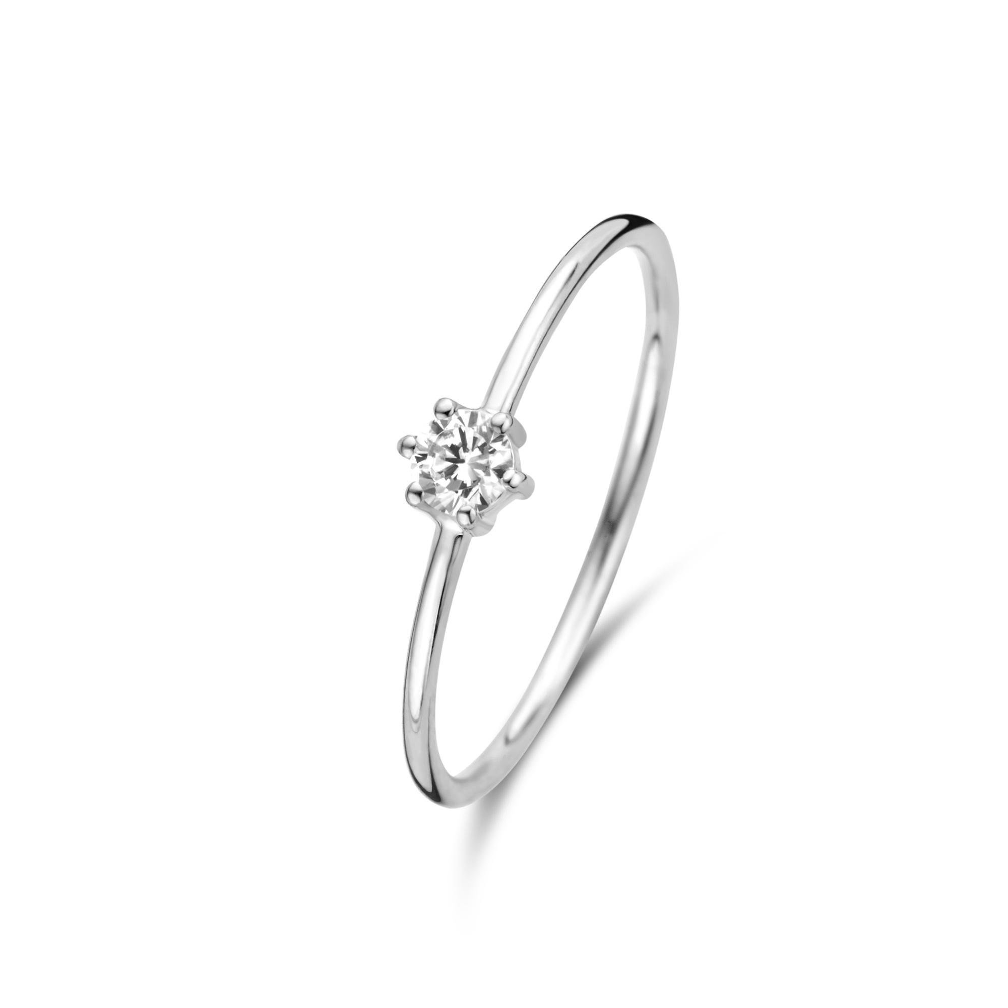 Isabel Bernard Saint Germain Abelle 585er Weißgold Ring mit Zirkonia