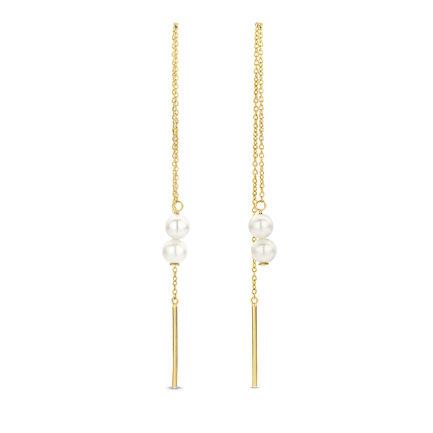 Isabel Bernard Belleville Luna boucles d'oreilles pendantes en or 14 carats