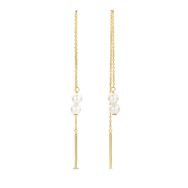 Isabel Bernard Belleville Luna 14 karat gold drop earrings
