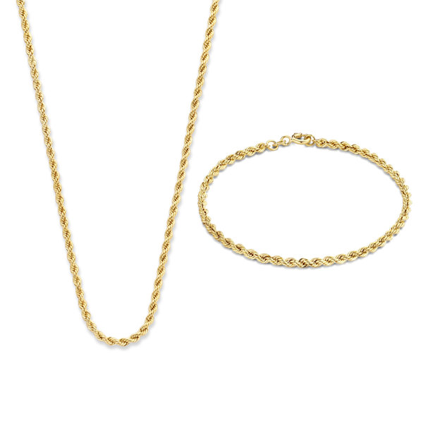 Isabel Bernard Cadeau d'Isabel 14 karat gold necklace and bracelet giftset
