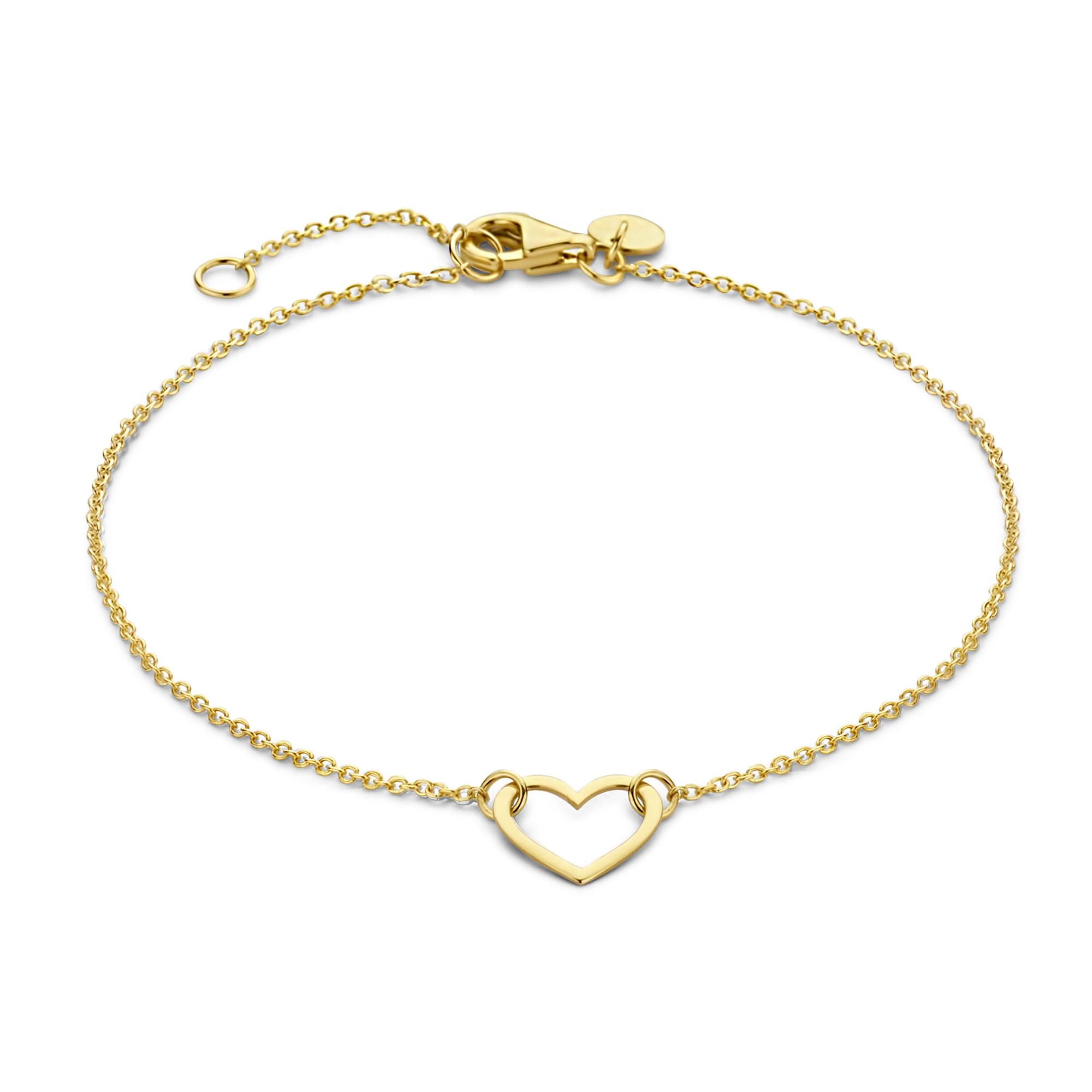 Isabel Bernard Belleville Amore 14 karat guldarmbånd med hjerte