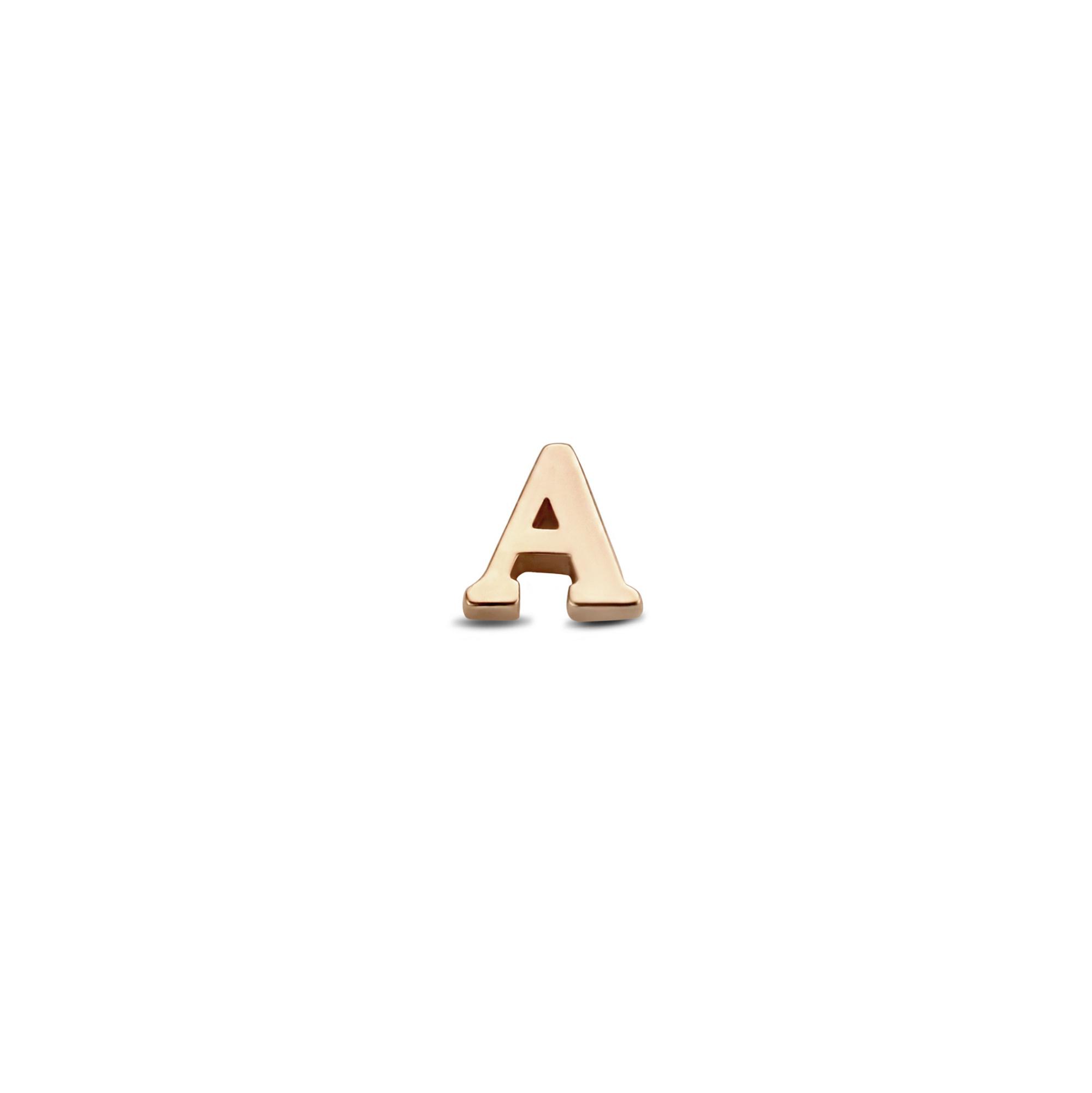 Isabel Bernard La Concorde Guillaine 14 karaat rosé gouden initial enkele oorknop met letter