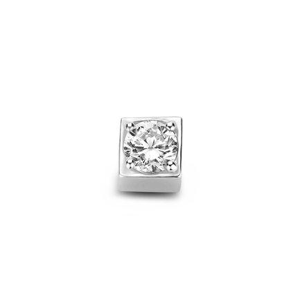Isabel Bernard Saint Germain Felie breloque cube en or blanc 14 carats