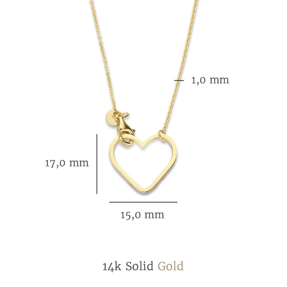 Isabel Bernard Belleville Amore 14 karat guldhalskæde med hjerte