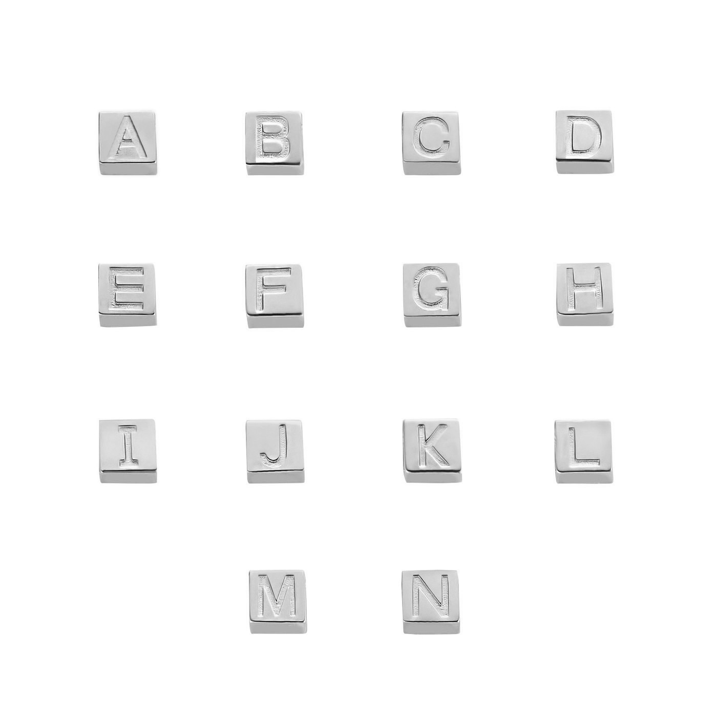 Isabel Bernard Saint Germain Felie breloque initiale cube en or blanc 14 carats