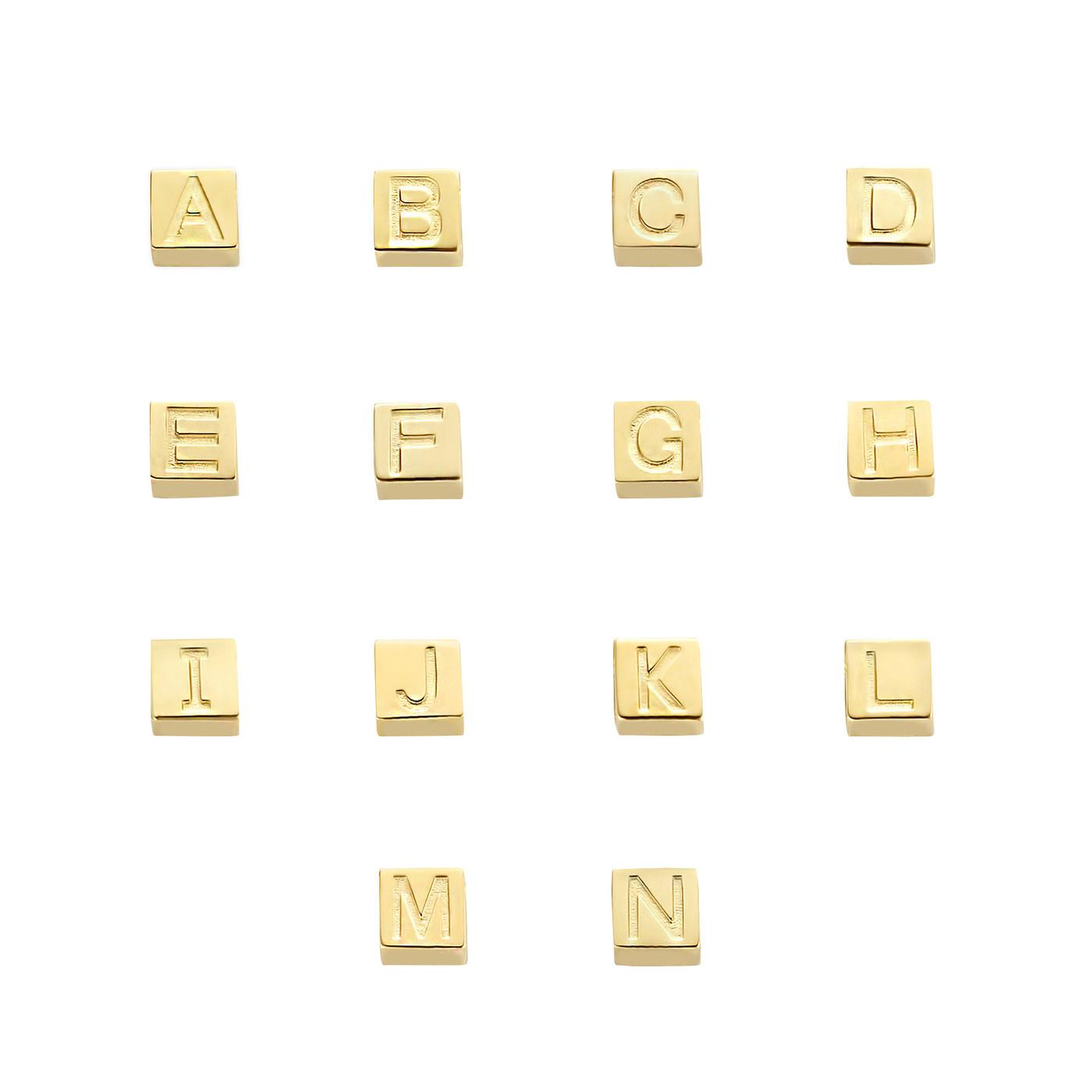 Isabel Bernard Le Carré Felie 585er Goldwürfel mit Buchstaben Charm
