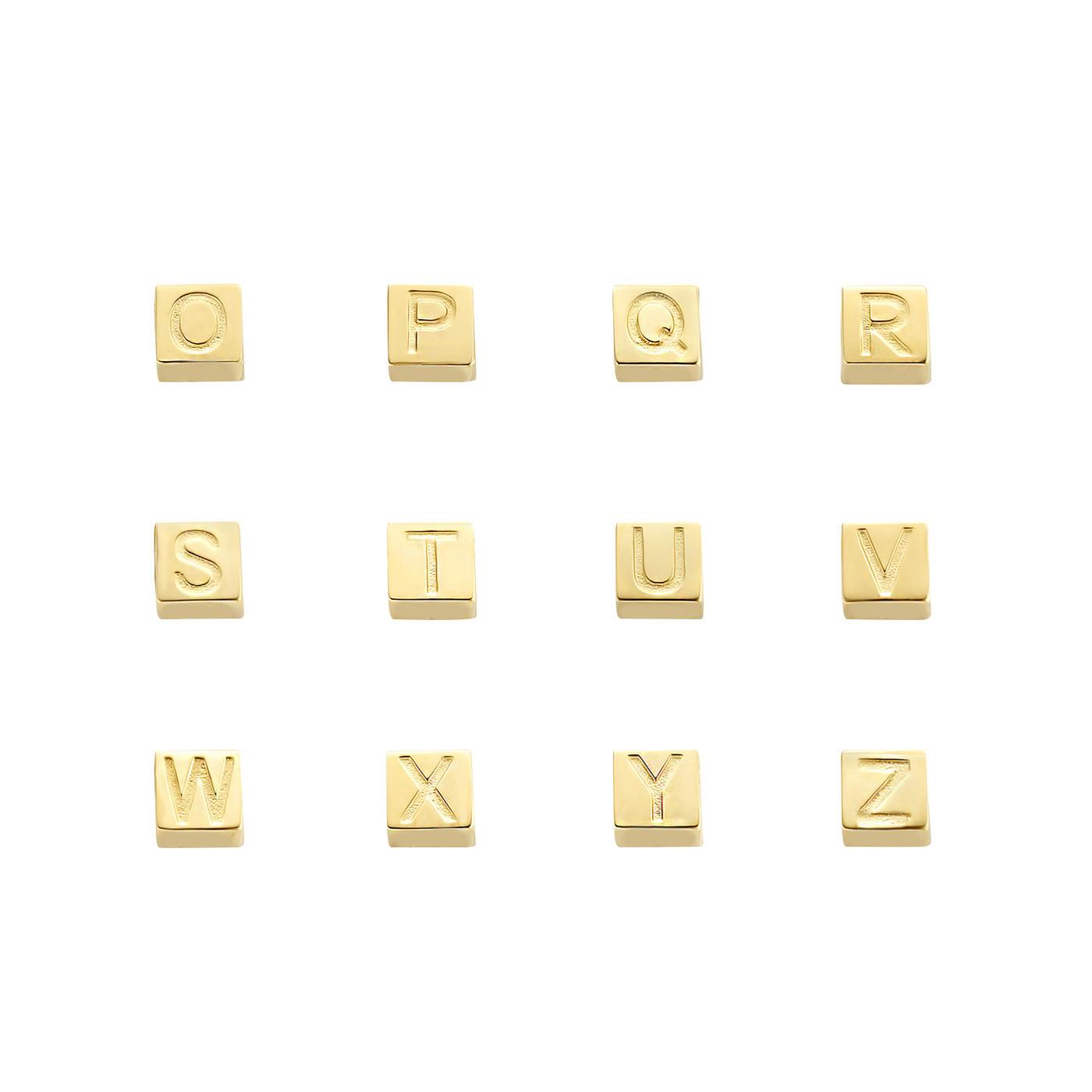 Isabel Bernard Le Carré Felie ciondolo iniziale cubo in oro 14 carati