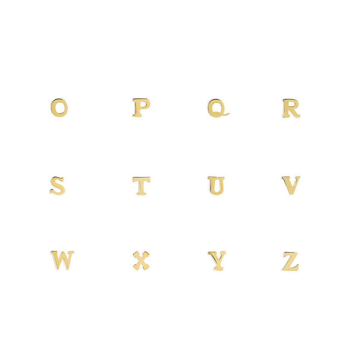 Isabel Bernard Le Marais Guillaine 14 karat gold initial single ear stud with letter