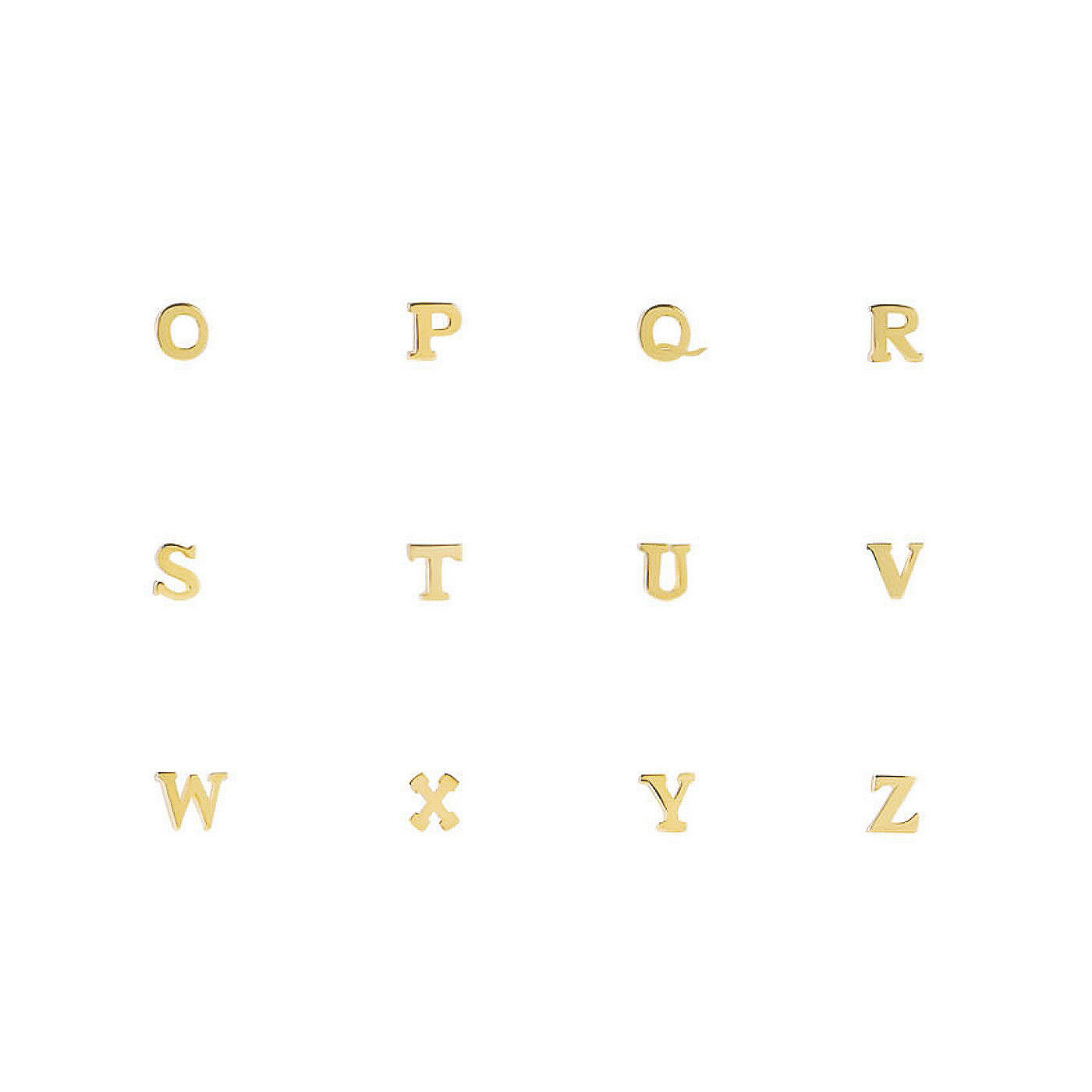 Isabel Bernard Le Marais Guillaine singola orrechini a bottone iniziale in oro 14 carati