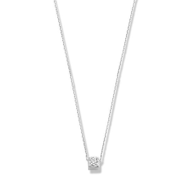 Isabel Bernard Saint Germain Felie 14 karat white gold collier cube