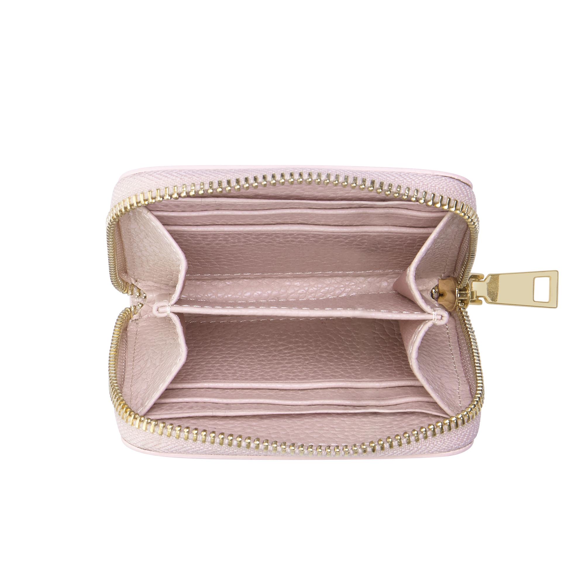 Isabel Bernard Honoré Jules portefeuille zippé en cuir de veau beige