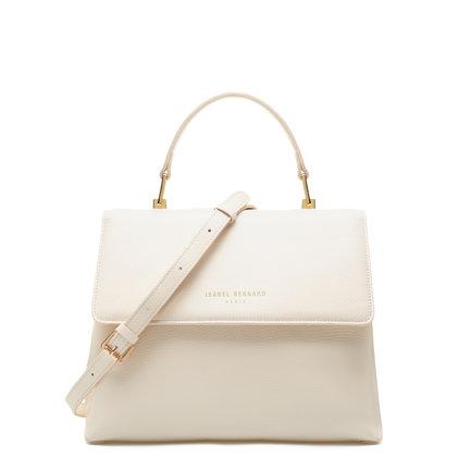 Isabel Bernard Femme Forte Gisel crème læder håndtaske lavet af kalveskind