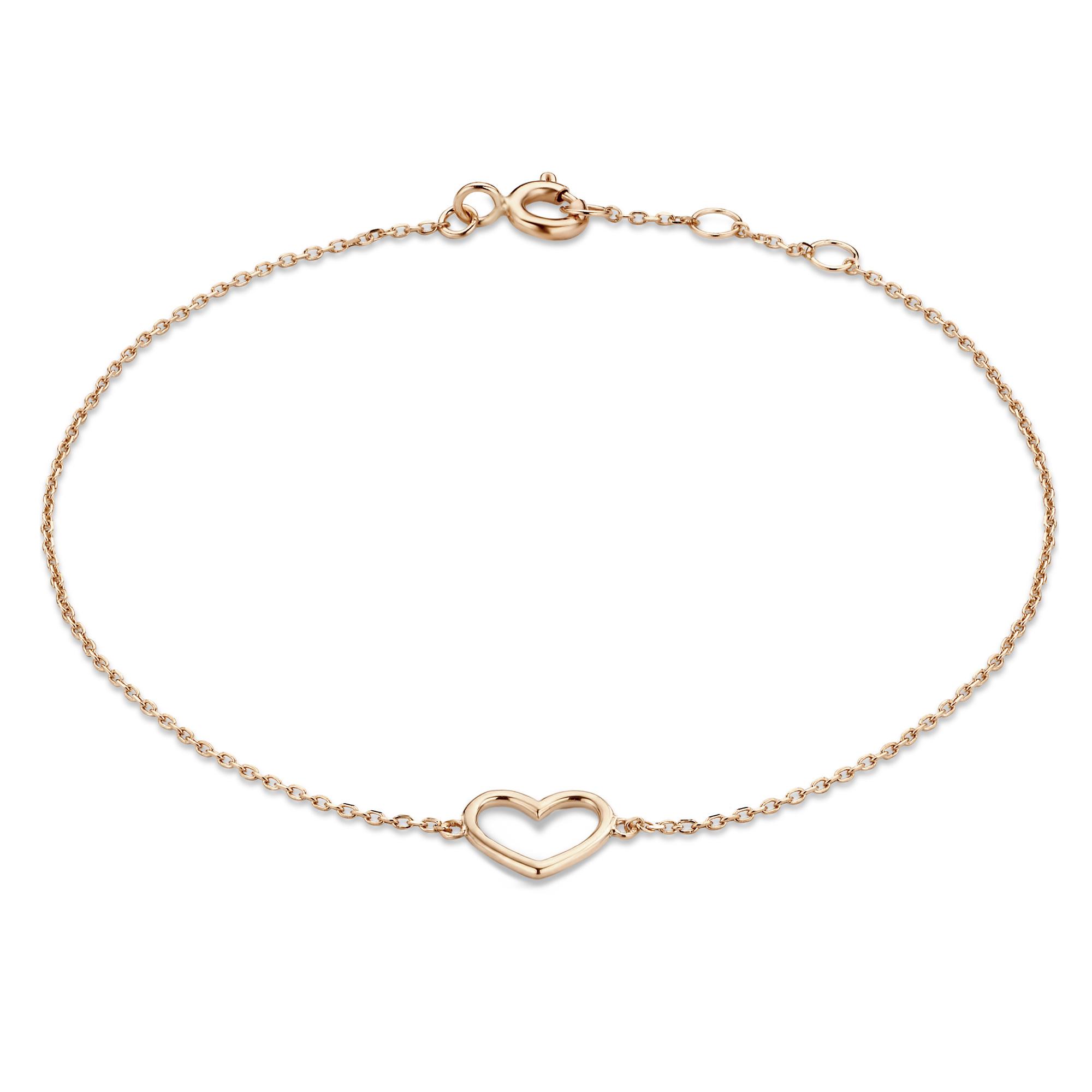 Isabel Bernard La Concorde Alix 14 karaat rosé gouden armband met hartje