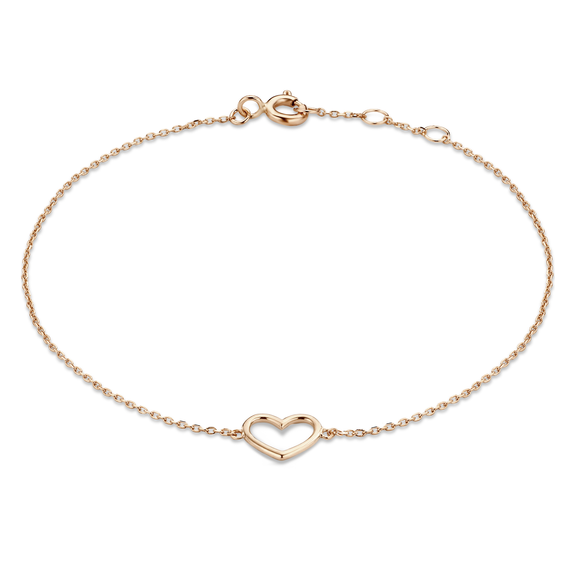 Isabel Bernard La Concorde Alix bracelet en or rose 14 carats avec le coeur