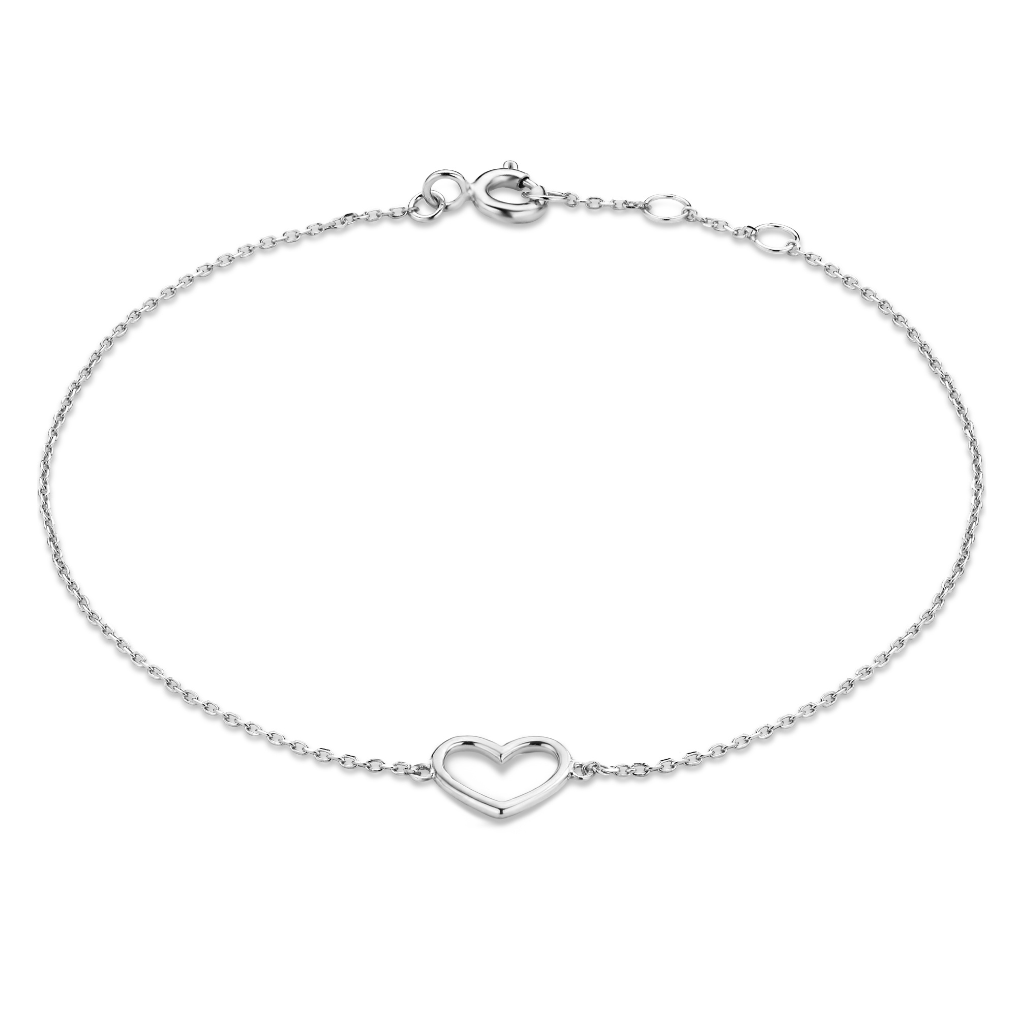 Isabel Bernard Saint Germain Alix bracelet en or blanc 14 carats avec le coeur