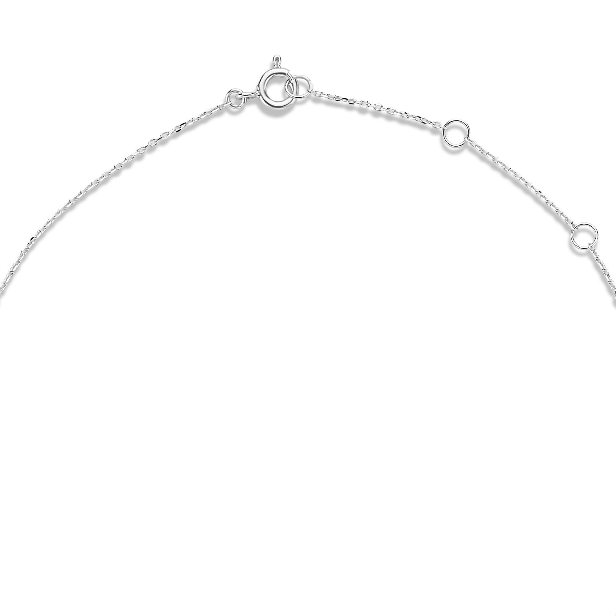 Isabel Bernard Saint Germain Loulou 14 karaat witgouden collier met ringetjes